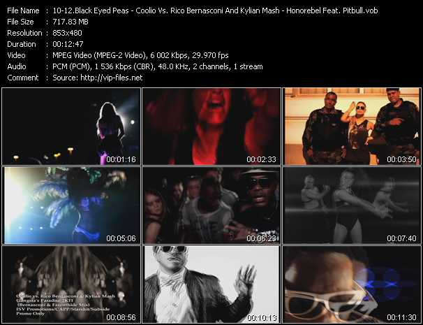 Black Eyed Peas - Coolio Vs. Rico Bernasconi And Kylian Mash - Honorebel Feat. Pitbull video screenshot