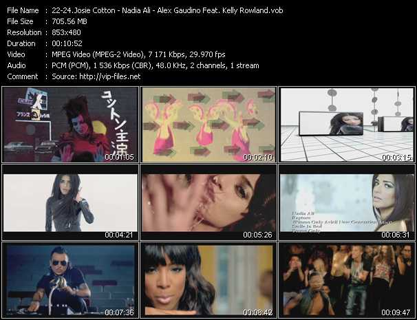 Josie Cotton - Nadia Ali - Alex Gaudino Feat. Kelly Rowland video screenshot