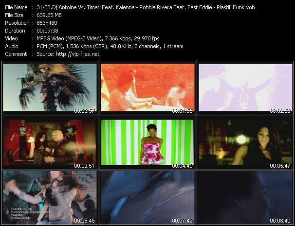 Dj Antoine Vs. Timati Feat. Kalenna - Robbie Rivera Feat. Fast Eddie - Plastik Funk video screenshot