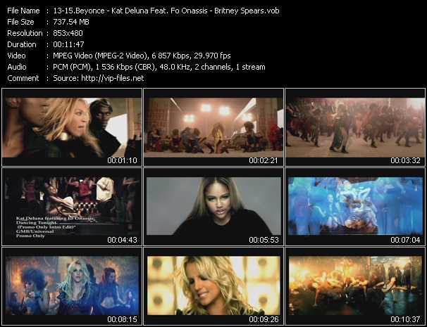 Beyonce - Kat DeLuna Feat. Fo Onassis - Britney Spears video screenshot