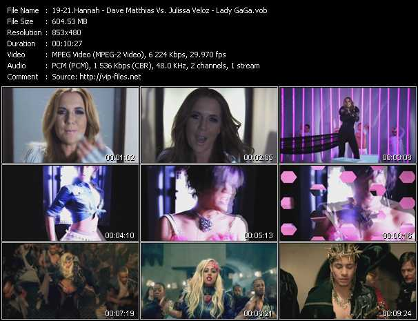 Hannah - Dave Matthias Vs. Julissa Veloz - Lady GaGa video screenshot