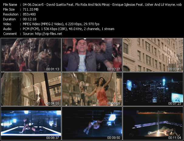 Dacav5 - David Guetta Feat. Flo Rida And Nicki Minaj - Enrique Iglesias Feat. Usher And Lil' Wayne video screenshot
