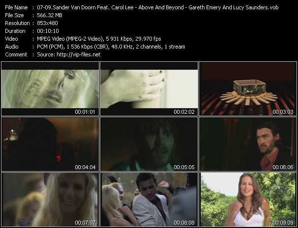 Sander Van Doorn Feat. Carol Lee - Above And Beyond Feat. Richard Bedford - Gareth Emery And Lucy Saunders video screenshot