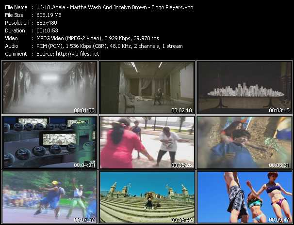 Adele - Martha Wash And Jocelyn Brown - Bingo Players video screenshot