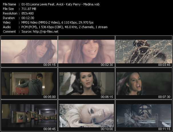 Leona Lewis Feat. Avicii - Katy Perry - Medina video screenshot