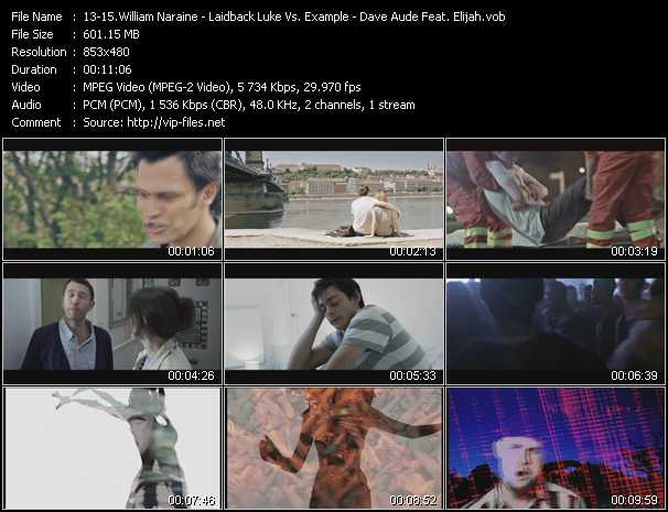 William Naraine - Laidback Luke Vs. Example - Dave Aude Feat. Elijah video screenshot