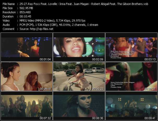 Ray Foxx Feat. Lovelle - Inna Feat. Juan Magan - Robert Abigail And DJ Rebel Feat. The Gibson Brothers video screenshot
