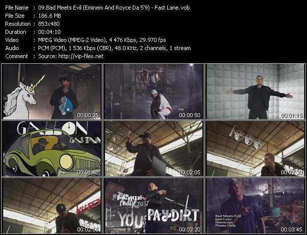 Bad Meets Evil (Eminem And Royce Da 5'9'') video screenshot