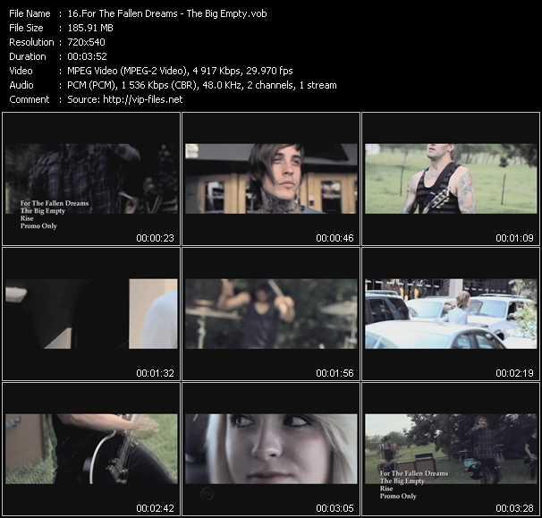 For The Fallen Dreams video screenshot