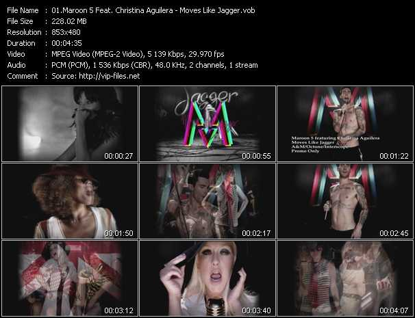 Maroon 5 Feat. Christina Aguilera video screenshot