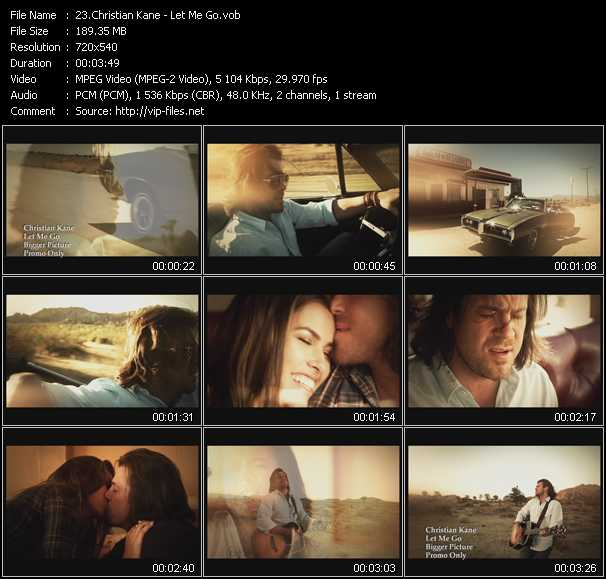 Christian Kane video screenshot