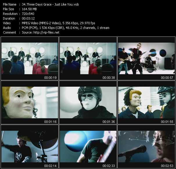 Three Days Grace video screenshot