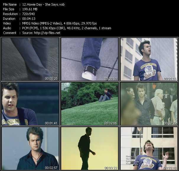 Howie Day video screenshot