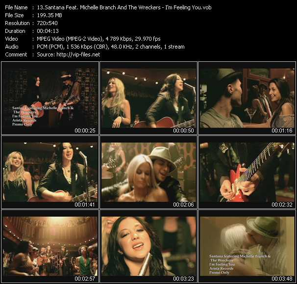 Santana Feat. Michelle Branch And The Wreckers video screenshot