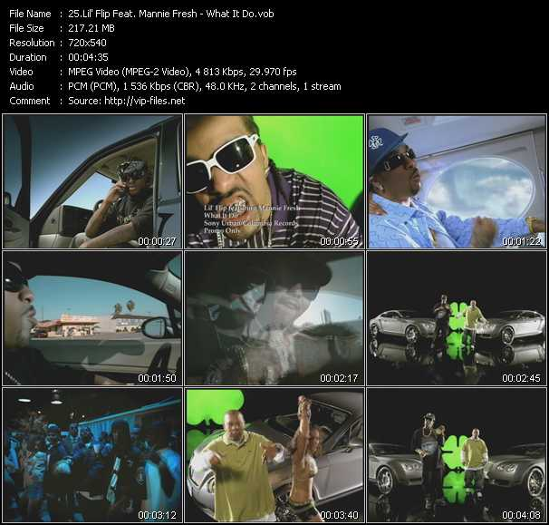 Lil' Flip Feat. Mannie Fresh video screenshot