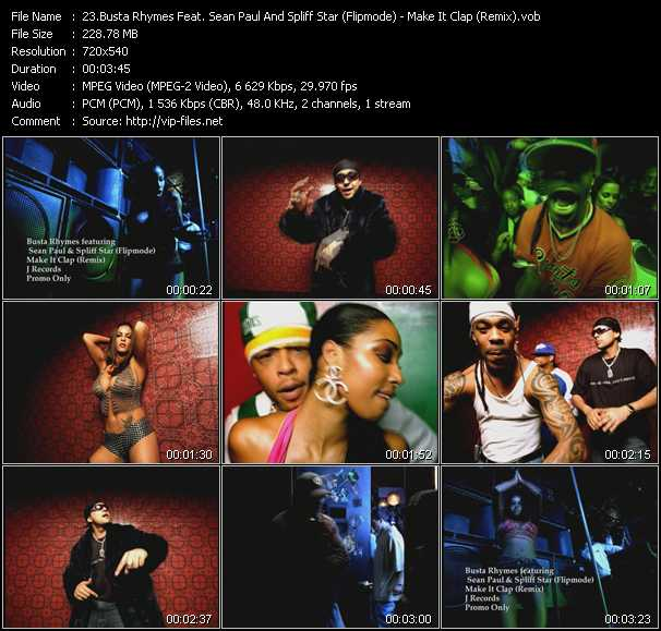 Busta Rhymes Feat. Sean Paul And Spliff Star (Flipmode) video screenshot