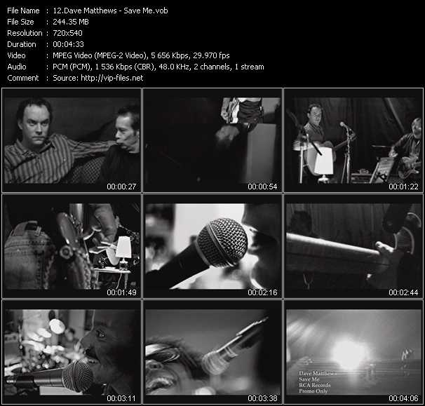 Dave Matthews video screenshot