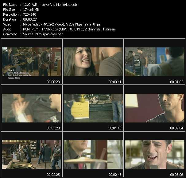 O.A.R. video screenshot