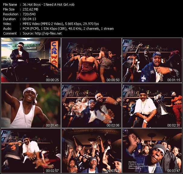 Hot Boys video screenshot