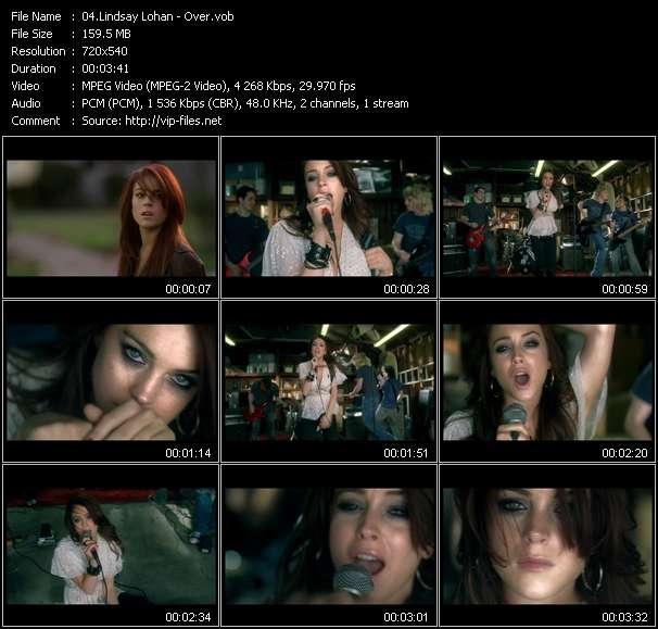 Lindsay Lohan video screenshot