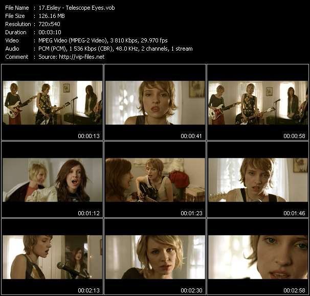 Eisley video screenshot