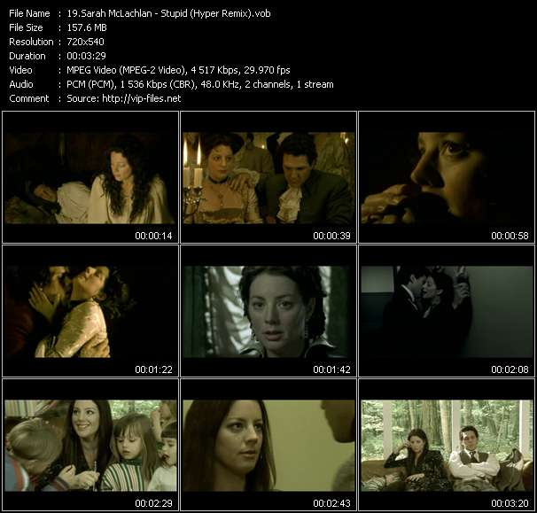Sarah McLachlan video screenshot