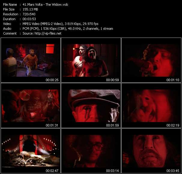 Mars Volta video screenshot
