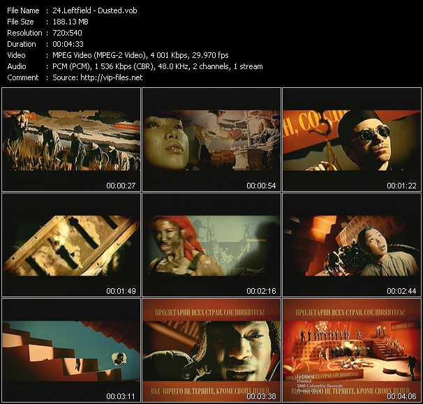 Leftfield video screenshot