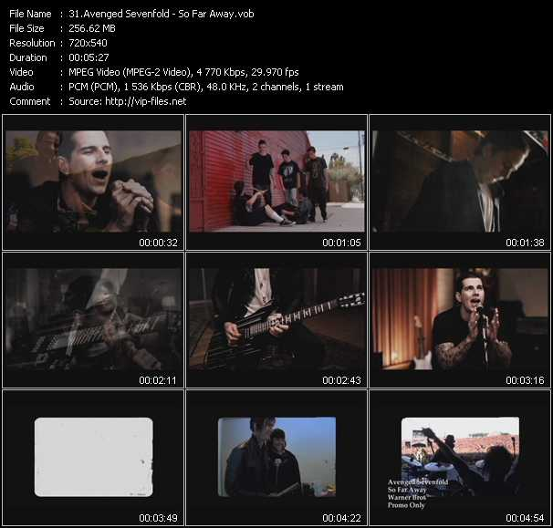 Avenged Sevenfold video screenshot