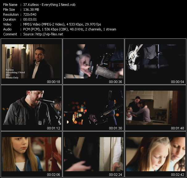 Kutless video screenshot