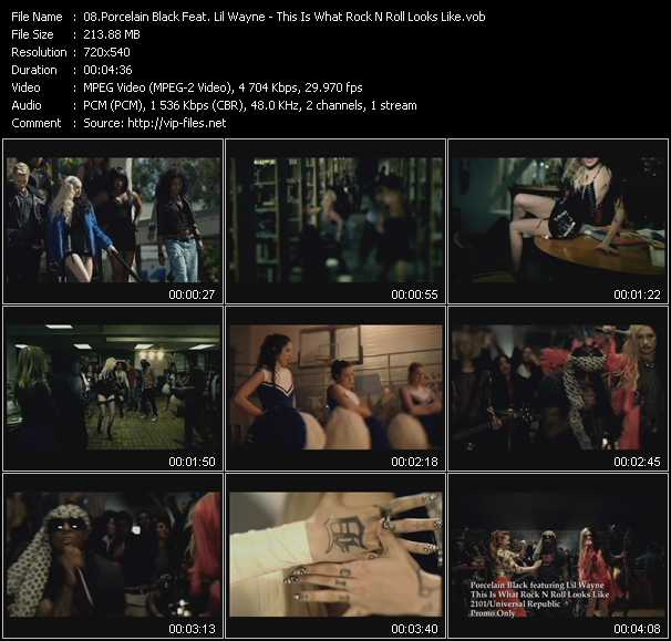 Porcelain Black Feat. Lil' Wayne video screenshot