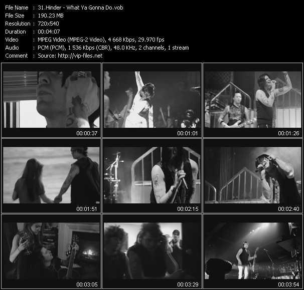 Hinder video screenshot