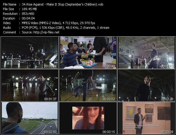Rise Against video screenshot