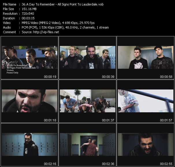 A Day To Remember video screenshot