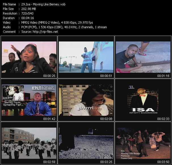video Moving Like Berney screen