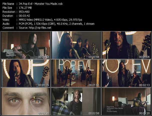 Pop Evil video screenshot