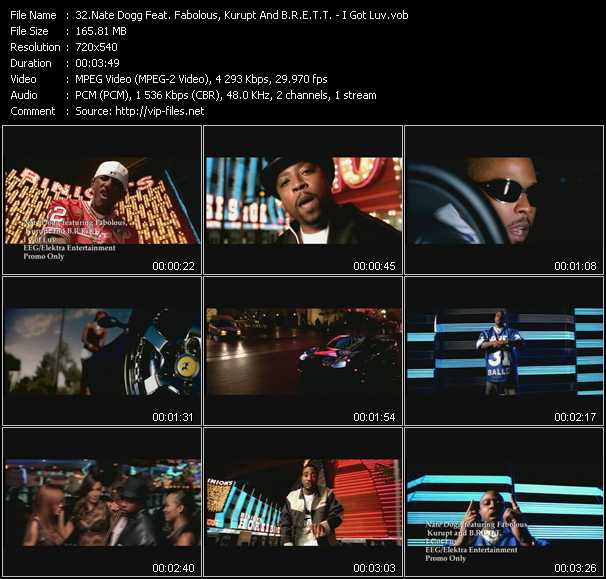 Nate Dogg Feat. Fabolous, Kurupt And B.R.E.T.T. video screenshot