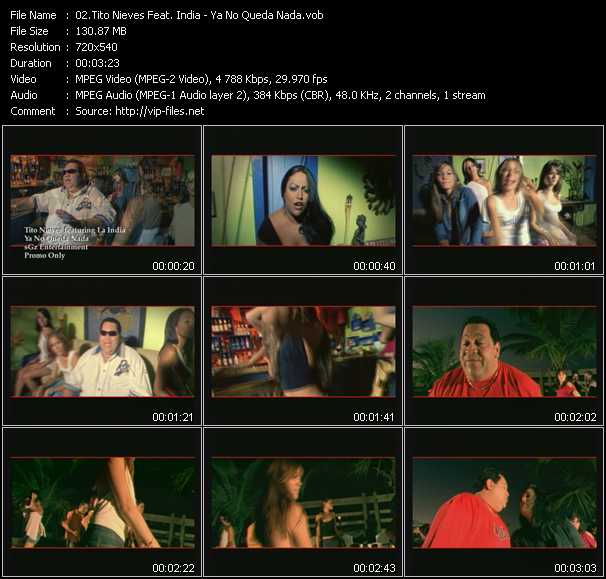 Tito Nieves Feat. India video screenshot