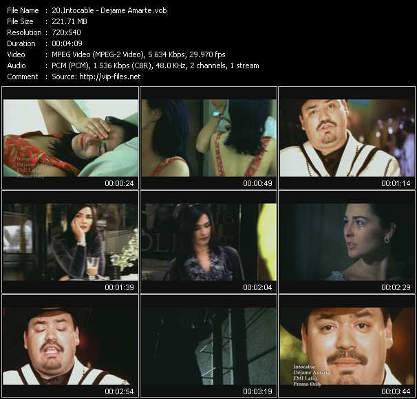 Intocable video screenshot