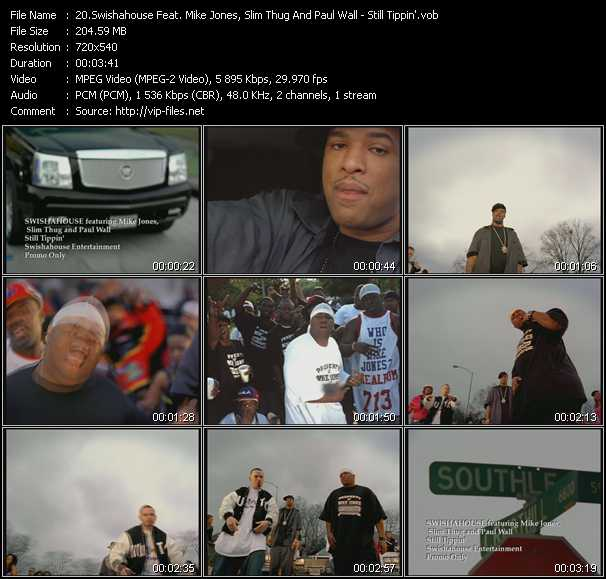 Swishahouse Feat. Mike Jones, Slim Thug And Paul Wall video screenshot