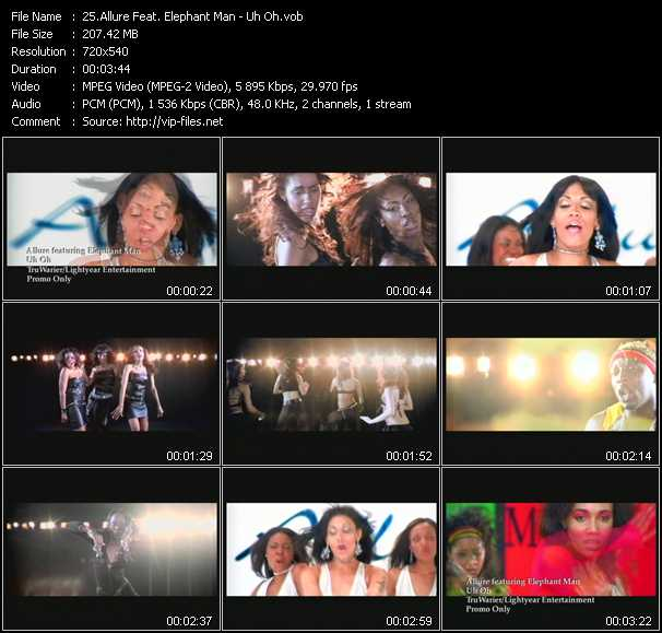 Allure Feat. Elephant Man video screenshot