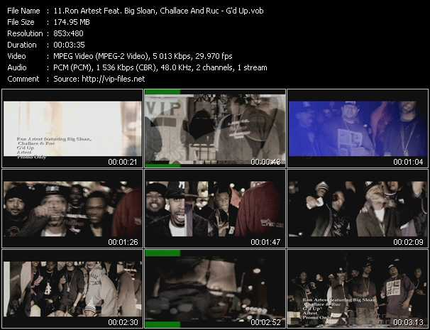 Ron Artest Feat. Big Sloan, Challace And Ruc video screenshot