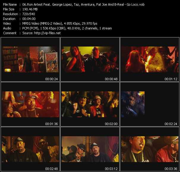 Ron Artest Feat. George Lopez, Taz, Aventura, Fat Joe And B-Real video screenshot