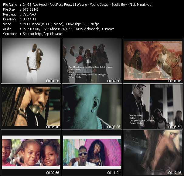 Ace Hood Feat. Rick Ross And Lil' Wayne - Rick Ross Feat. Lil' Wayne - Young Jeezy - Soulja Boy Tell 'Em - Nicki Minaj video screenshot