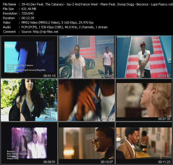 Dev Feat. The Cataracs - Jay-Z And Kanye West Feat. Otis Redding - Mann Feat. Snoop Dogg And Iyaz - Beyonce - Lupe Fiasco Feat. Trey Songz video screenshot