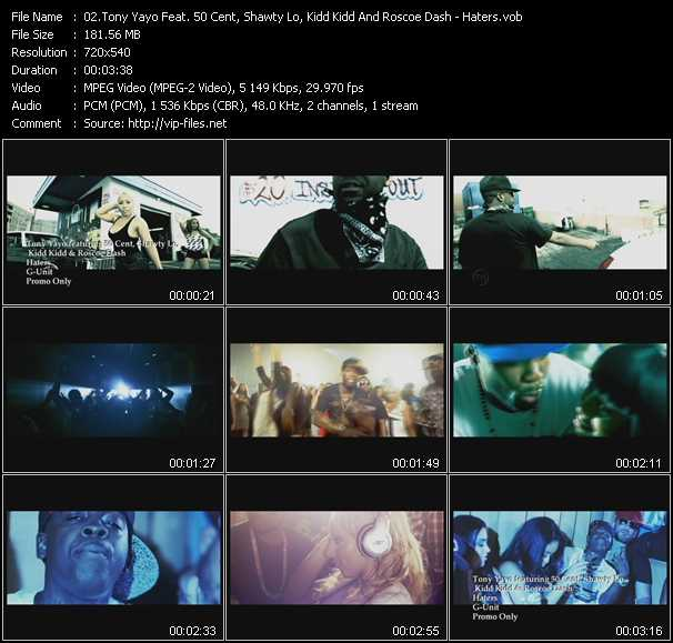 Tony Yayo Feat. 50 Cent, Shawty Lo, Kidd Kidd And Roscoe Dash video screenshot
