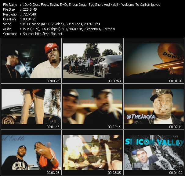 40 Glocc Feat. Sevin, E-40, Snoop Dogg, Too Short And Xzibit video screenshot