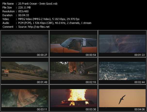 Frank Ocean video screenshot