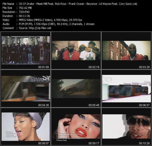 Drake - Meek Mill Feat. Rick Ross - Frank Ocean - Beyonce - Lil' Wayne Feat. Cory Gunz video screenshot