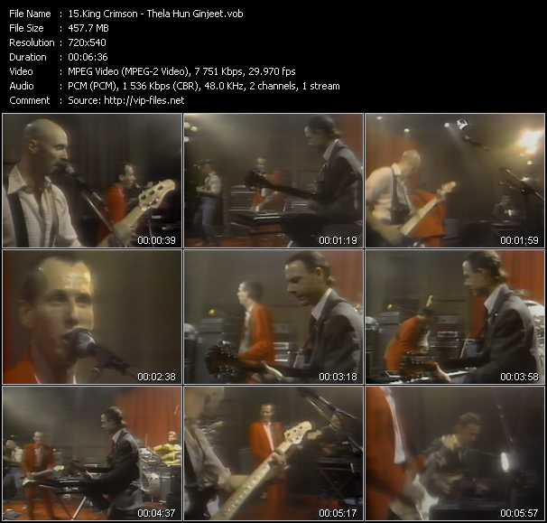 King Crimson video screenshot